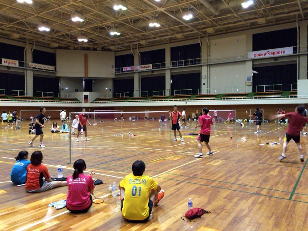 戸田市民体育祭バドミントン大会に参戦してきました。