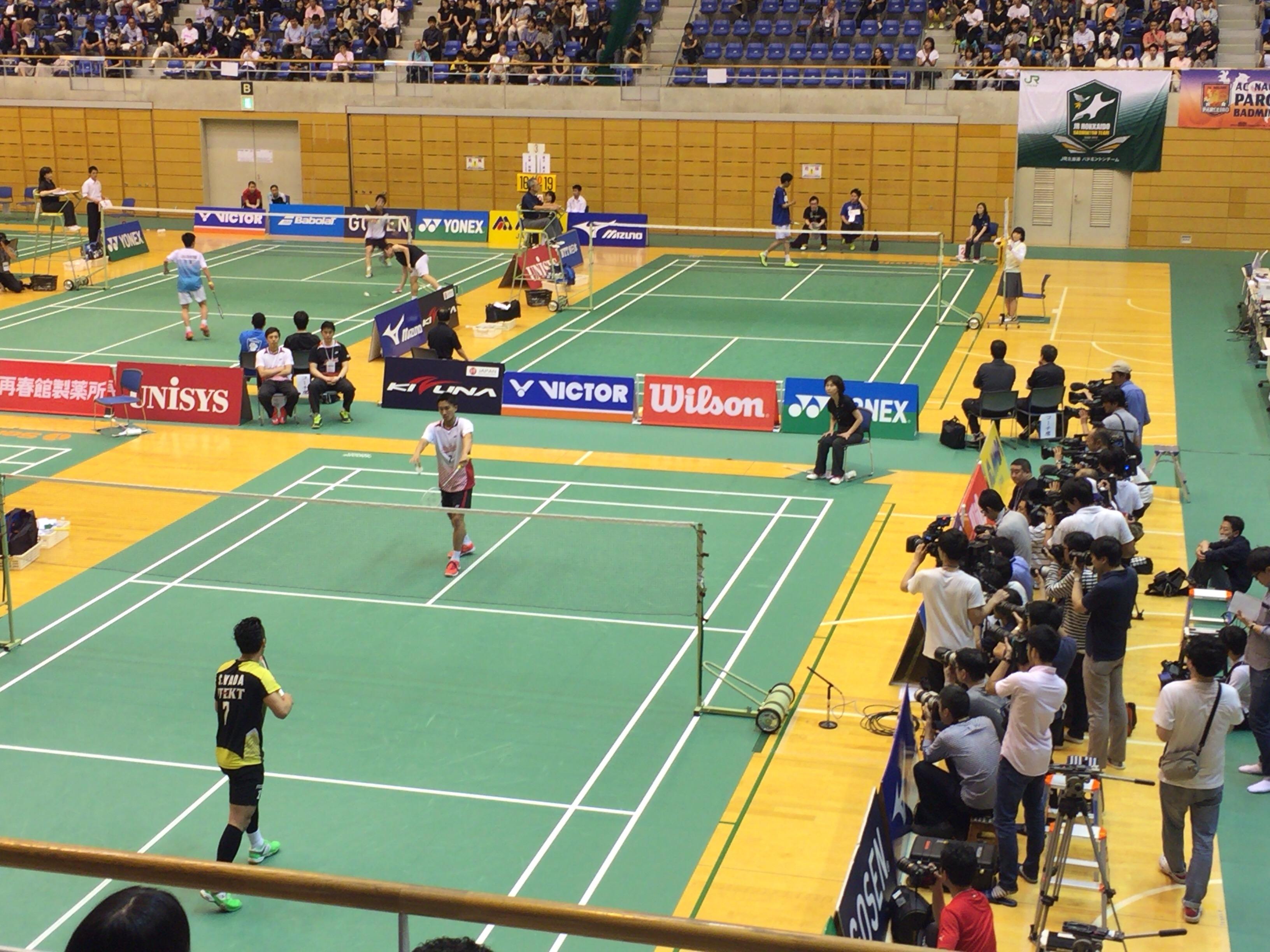 桃田選手復帰戦のランキングサーキットを観戦してきました。