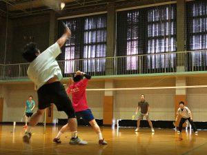 久々の4時間&日中開催のバドミントン練習は20名集まりました!