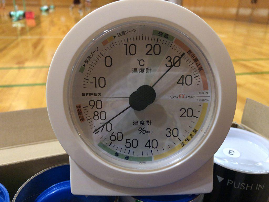 久々の大宮武道館でのバドミントンは19時-21時でも湿度70%以上・・。